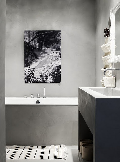 Kylpyhuone betonia | Kauniit neliot